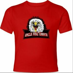 Eagle Fang Karate Cobra Kai Dojo Front /& Back Print Distressed Men/'s Red T-shirt