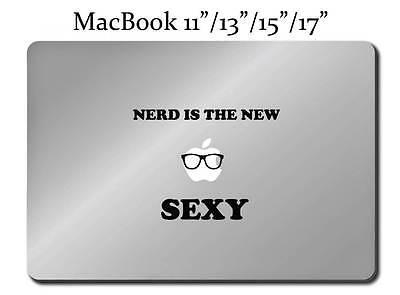 Macbook 13 15 17 Air 13 Glasses Geek Snow White decal sticker art for Apple Laptop