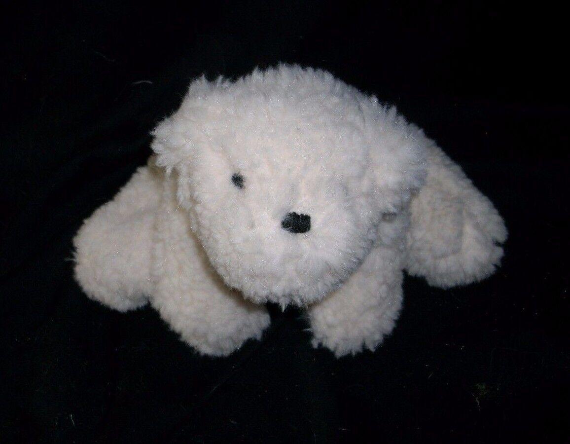 POTTERY BARN FLUFFY FURRY BICHON FRISE WHITE PUPPY DOG STUFFED ANIMAL PLUSH TOY
