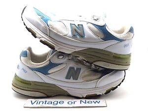 meet 77f85 832e3 Details about Women's New Balance 993 White Blue WR993BW Running Shoes sz  7.5