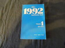 Specification book Datenbuch 92 Ford Aerostar Explorer Ranger Werkstatthandbuch