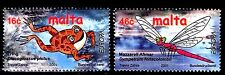 SELLOS TEMA EUROPA MALTA 2001 2v. EL AGUA