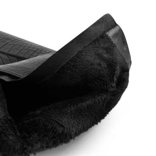 Onlymaker Women/'s High Chunky Heel Platform Booties Stone Pattern Waisted Boots