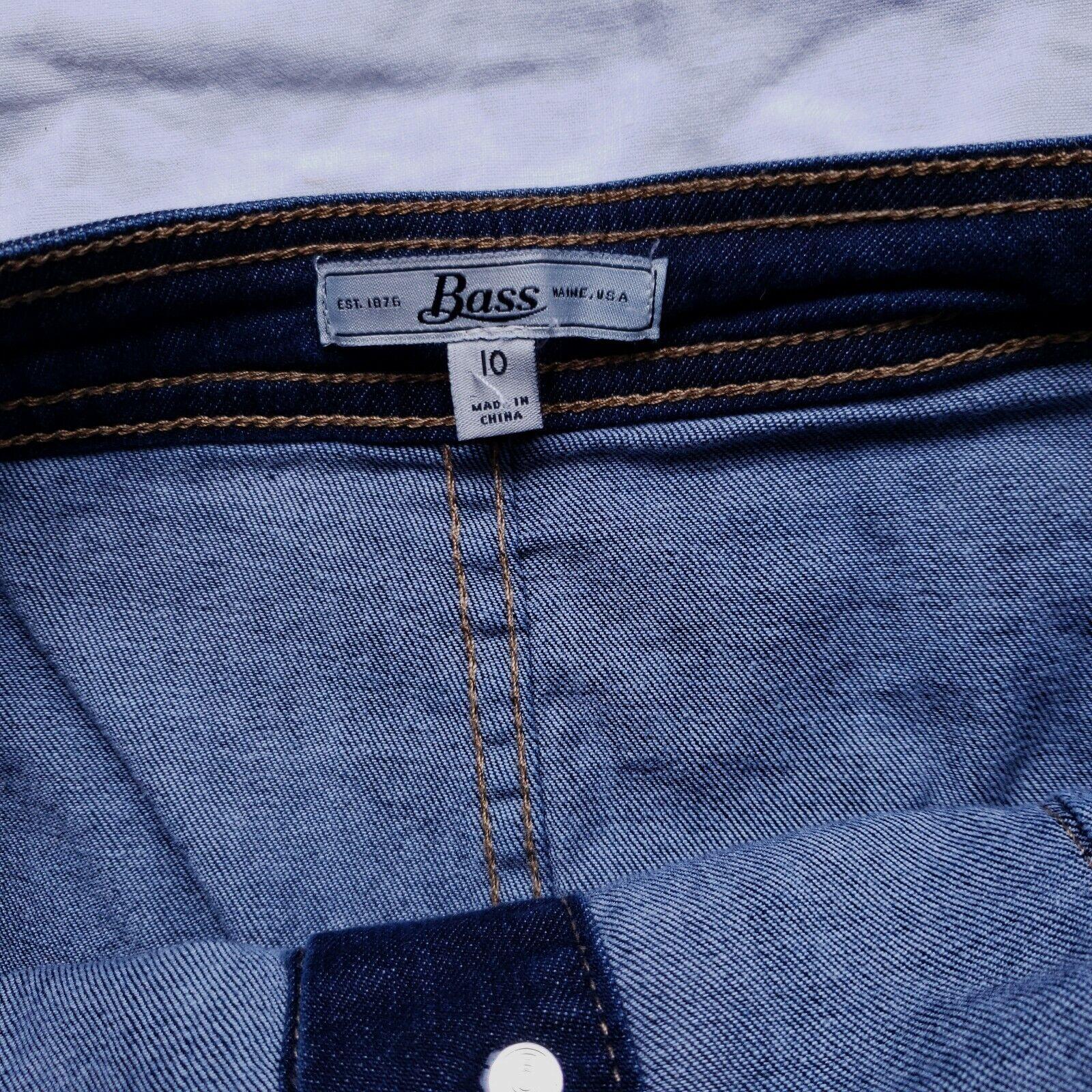 Bass Womens Blue Denim Skirt Size 10 Button Front… - image 2