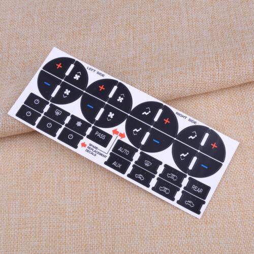 For GM Chevrolet Dash Control Button Sticker Repair Decal 21×Radio /& 31× AC Set