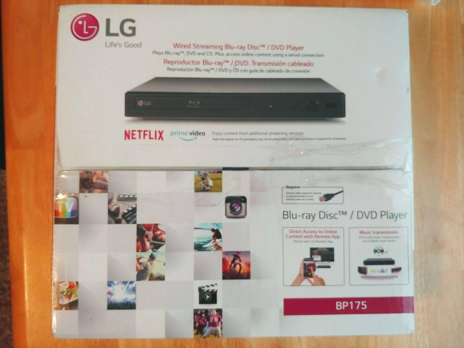 LG BP175 - Streaming Audio Blu-ray Player - Black audio black bp175 player streaming