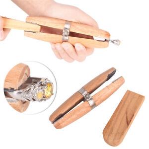 Jewellers-Ring-Clamp-Holz-Schmuck-Schraubstock-Werkzeughalter-Halten-RingeW-I1