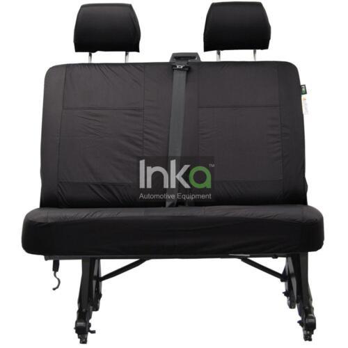VW Transporter T5 /& T6 Inka Rear Double Tailored Waterproof Seat Covers Black