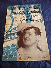 Partitura Un marino debe pasar a todas partes de Flament-Marsoudet 1934