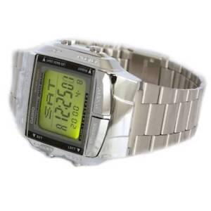 Casio-Mens-Digital-Data-Bank-SILVER-Plated-Steel-Casio-Db-360N-1a-orologio-RELOJ
