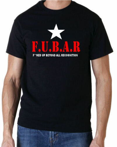 F.U.B.A.R AIRSOFT PAINTBALL SHOOTING FUNNY T SHIRT FREE UK POSTAGE