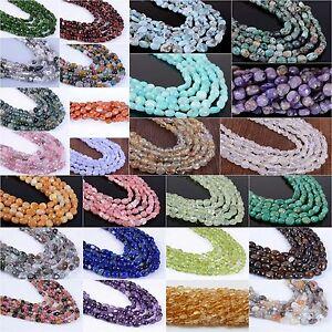 Natural-gemstone-Pebble-Chips-loose-beads-16-034-Amazonite-Charoite-agate-Larimar