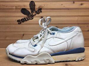 1988-OG-Vintage-Womens-Nike-Air-Cross-Trainer-sz-7-5-White-Blue