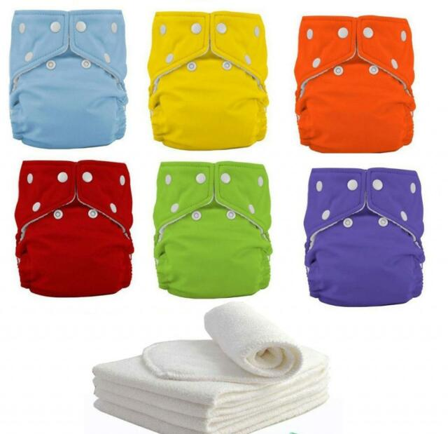 New 10+10pcs INSERTS Adjustable Reusable Lot Baby Washable Cloth Diaper Nappies