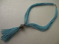 Moroccan Berber Jewelry Necklace:fabulous Multi-thread Turquoise Beads