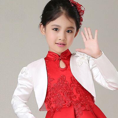 Child Jacket Satin Bolero for Wedding Dresses and Evening Coat for Flower girls