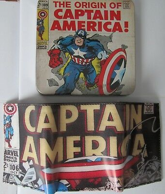 New Marvel Captain America Tri-Fold Wallet