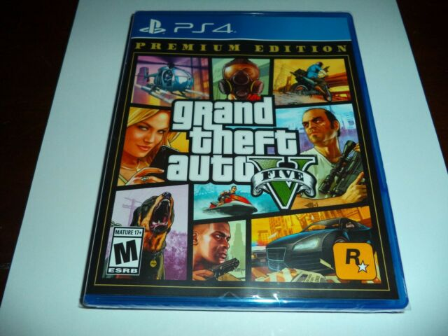 GRAND THEFT AUTO V GTA 5 PREMIUM ONLINE EDITION FOR PLAYSTATION 4 PS4 NEW SEALED