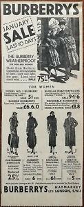 Burberrys-Ltd-January-Sale-Last-10-Days-Vintage-Advertisement-1936