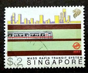 Singapore-1988-MRT-Mass-Rapid-Transit-System-034-2-034-1v-Used