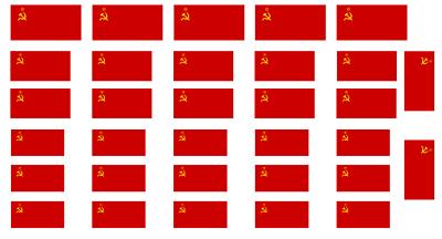 1//16 Maßstab WW2 Russisch Sowjet Flaggen auf 100/% Baumwolle Leinen Model Armee