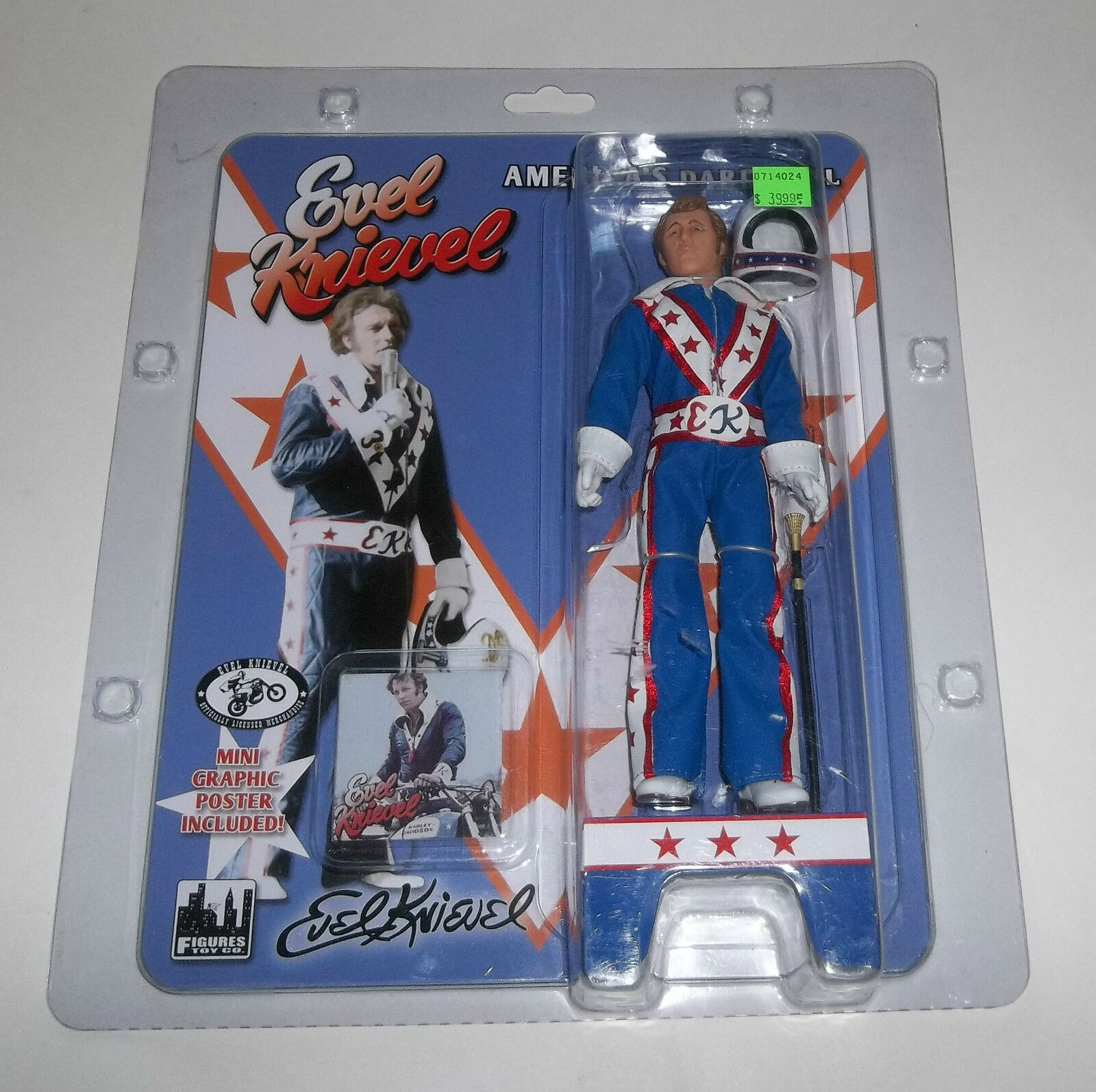 America's Daredevil Evel Knievel bluee Suit 2012 Figures Toys Co. - MOC NEW