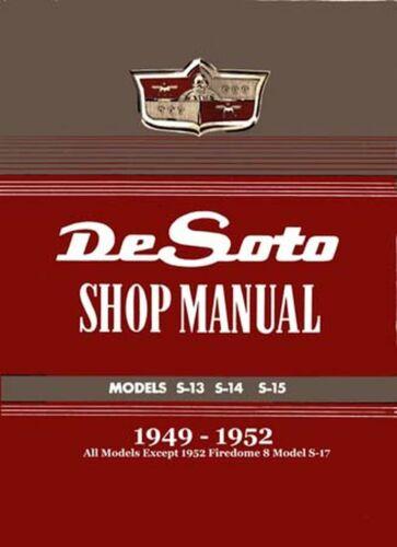 OEM Repair Maintenance Shop Manual Bound for Desoto All Models 1949-1952