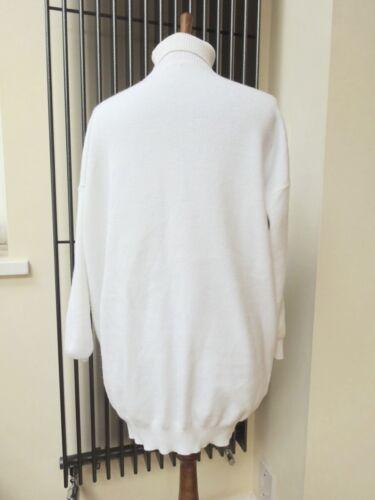 S maglione tasche White Wool Layers sintetica con pelliccia taglia m Paris Ladies in maglione Iwqpn0fC