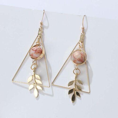 Charm Triangles Leaf Hook Drop Dangle Earrings Ear Studs Women Jewelry Gift UK