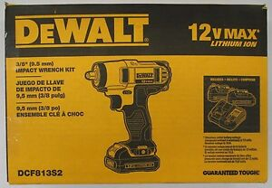 """DeWalt #DCF813S2: 12v 3/8"""" Impact Wrench Kit"""