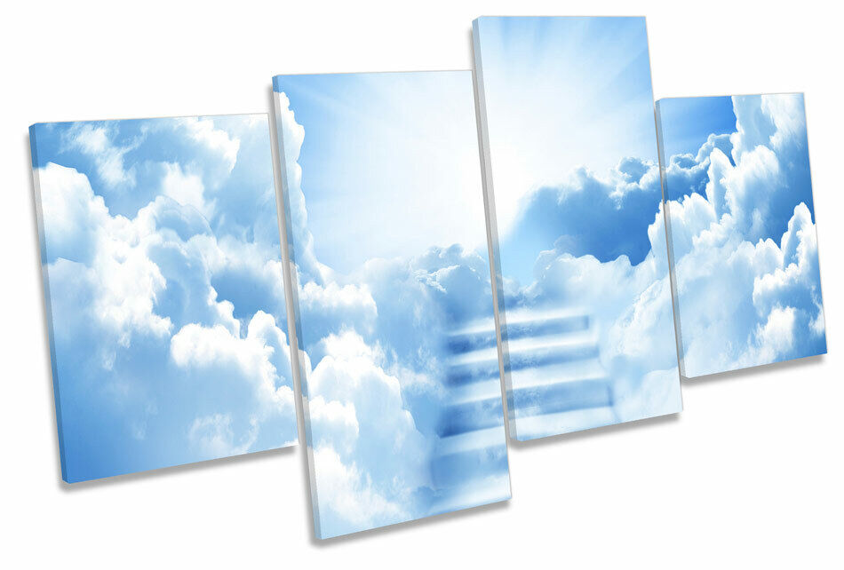 Stairway to Heaven MULTI CANVAS WALL ART Boxed Framed