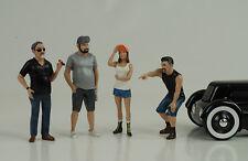 Hot rod rodder 4 Figuren Figur Figures Set 1:18 American Diorama