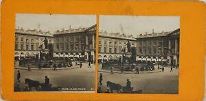 FRANCE-Reims-La-Place-Royale-Photo-Stereo-Vintage-Argentique-PL60