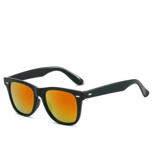 1980/'s Vintage Sunglasses Mens Womens Ladies Retro Classic Black Frame UV400 NEW
