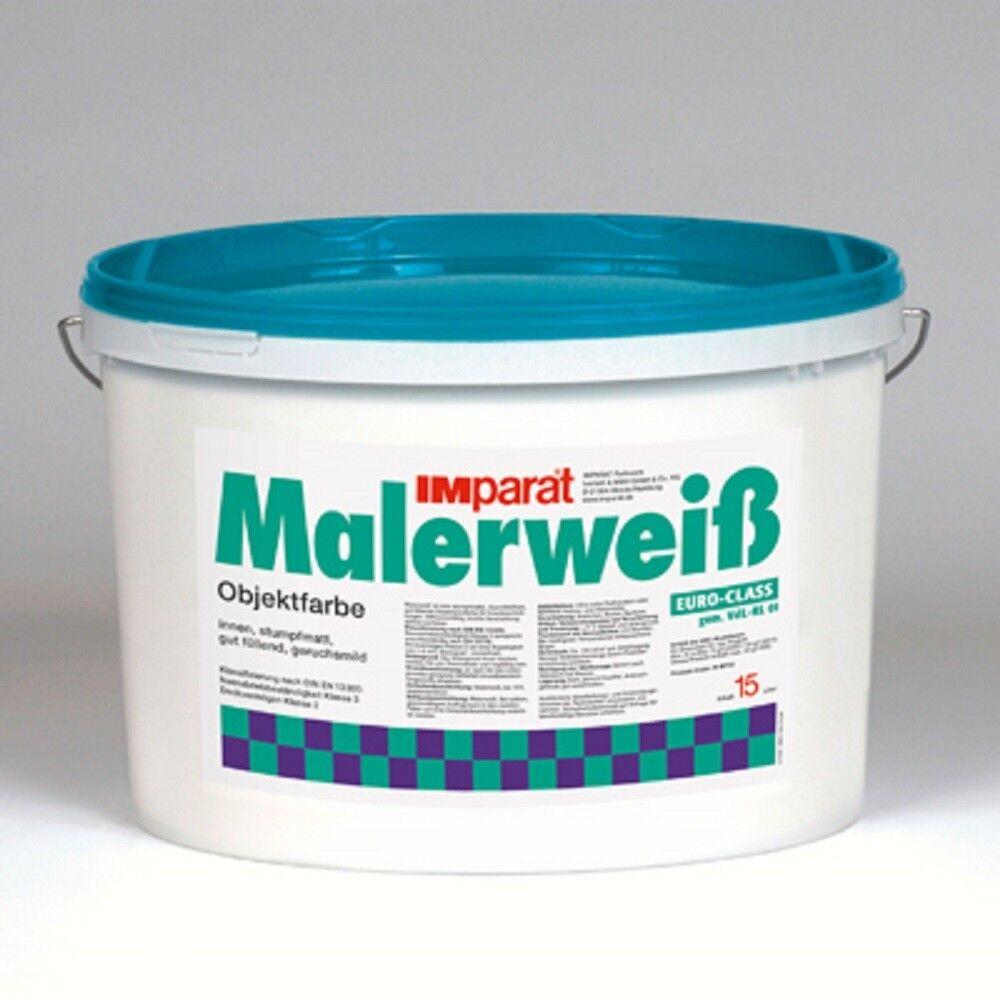 IMparat Malerweiß PROFI Wandfarbe Innenfarbe Objektfarbe Profiqualität 105 L