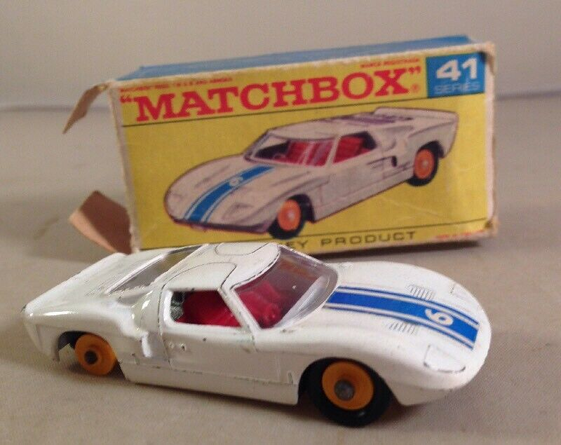 MATCHBOX  LESNEY MODEL No.41c FORD GT RACING CAR BOXED