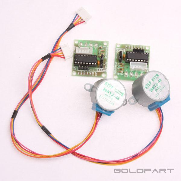 2pcs DC 5V Stepper Motor + ULN2003 Driver Test Module Board 28BYJ-48 for Arduino