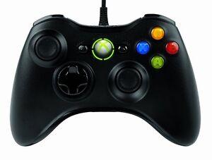 Microsoft-Manette-filaire-pour-Xbox-360-PC-Noir