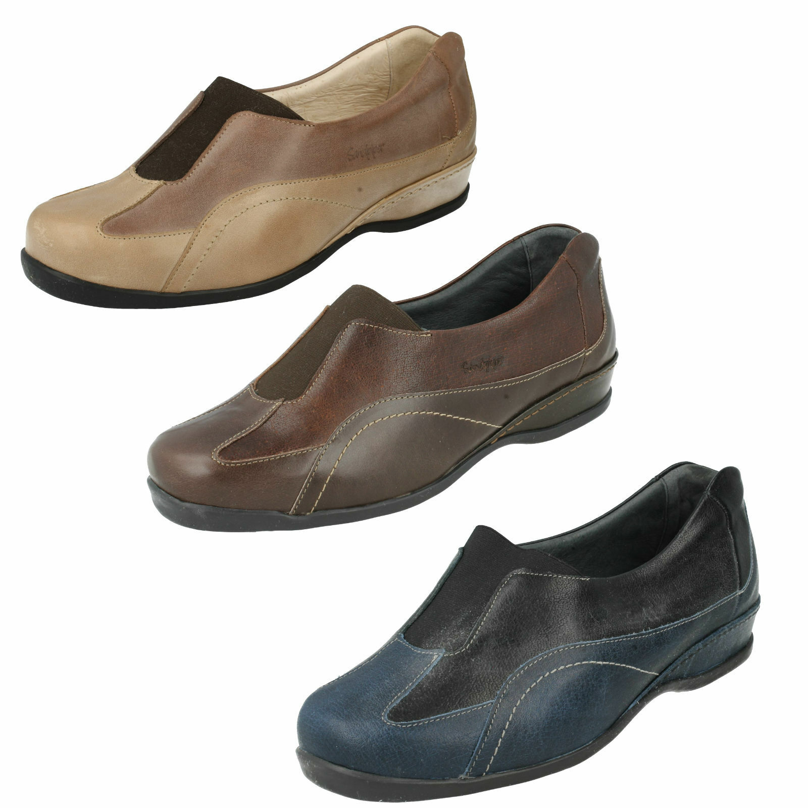 LADIES SANDPIPER ARTEN SLIP ON CASUAL EVERYDAY LEATHER SHOES