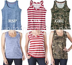 7c8246b8eeb27d Dickies Women s Printed Stripe Camo Pocket Tank Top TEE Classic Fit ...
