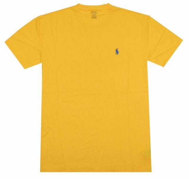 85ccc7a1 Polo Ralph Lauren Men Classic Fit Crew Neck Pony Logo T-shirt -Coastguard  yellow