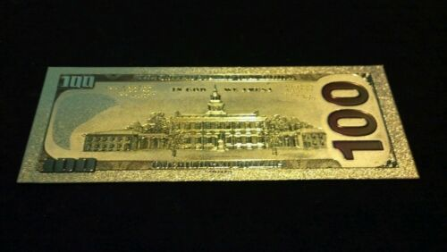 ~NEW STYLE~.999 GOLD$100 U.S BANKNOTE~STUNNING COLOR DETAIL/& A COA~FAST~SHIPPINs