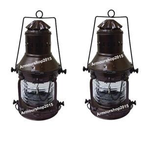 Marine Nautical Bronze Lantern Lights Vintage Oil lamp Item
