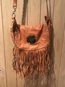 Image is loading Genuine-Mulberry-Daria-Fringe-Satchel -Nappa-Leather-Gingerbread 7a229694f4576