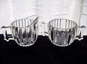 Jeannette-Glass-Clear-National-Creamer-Pitcher-amp-Sugar-Bowl-Set