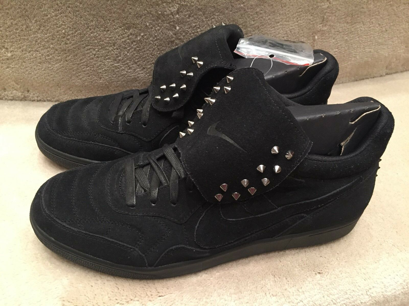 NIKE NSW TIEMPO '94 MID SP 645330 090 BLACK SUEDE STUDS SIZE 12 NEW WITH BOX