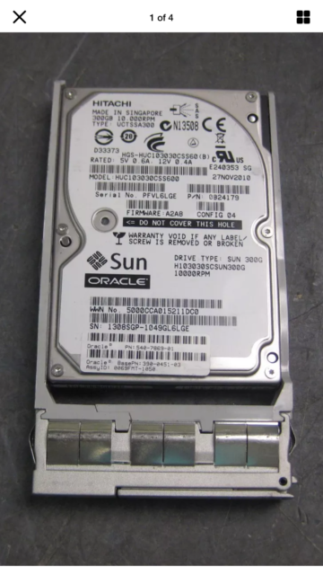 "Sun Oracle 540-7869-01 Hitachi HUC103030CSS600 300GB 6Gb SAS 2.5"" 10k HARD DISK"
