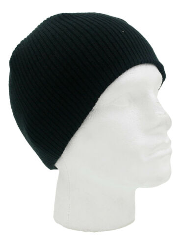 Mens Reversible Knitted Winter Beanie Hat