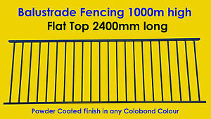 Balustrade-Fencing-Balcony-amp-Deck-Fence-Flat-Top-1000mm-high-x-2400mm-long
