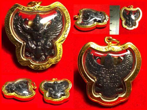 Thep King Garuda Lp Seng Yantra Thai Amulet Buddha Gold Case Necklace Protection